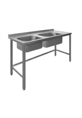Darba galds ar 2 izlietnēm bez plaukta