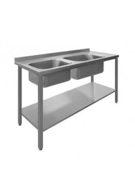 Darba galds ar 2 izlietnēm un plauktu