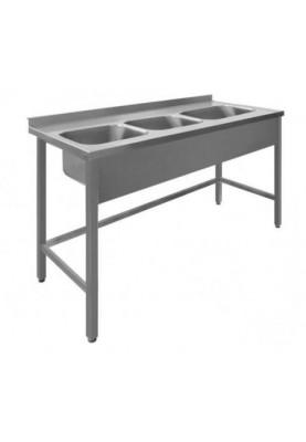 Darba galds ar 3 izlietnēm bez plaukta