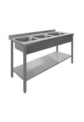 Darba galds ar 3 izlietnēm un plauktu