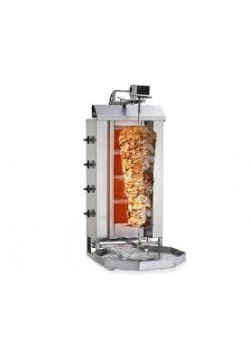 Girosa gāzes kebaba grils ar 4 degļiem BORNHARD